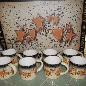 8 mugs and dishwaser / frig magnet 23x17